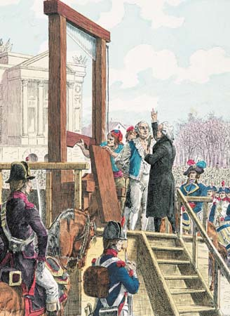 Print Depicting the Execution Louis XVI in 1793