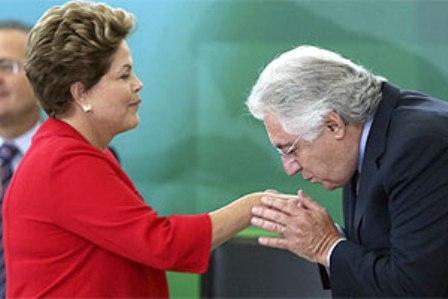 Dilma Rousseff e Afif Domingos