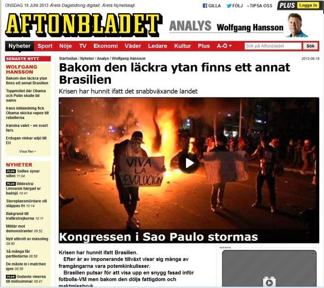 Por debaixo da superfície saborosa, aparece um outro Brasil Aftonbladet, Suécia