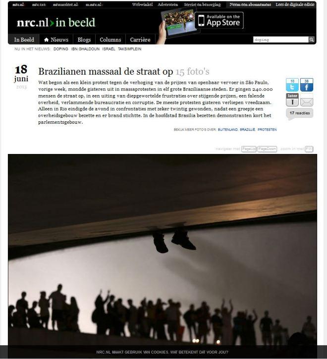Os brasileiros saem às ruas NRC, Holanda