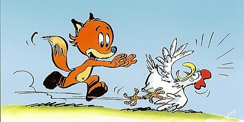 A raposa e a galinha