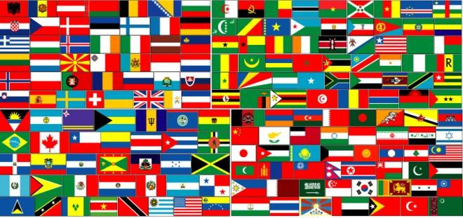 Bandeiras do mundo Para onde ir?