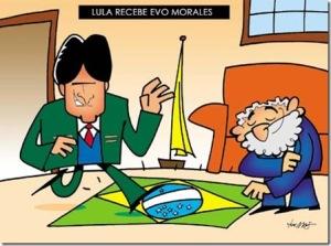 Lula recebe Evo Morales