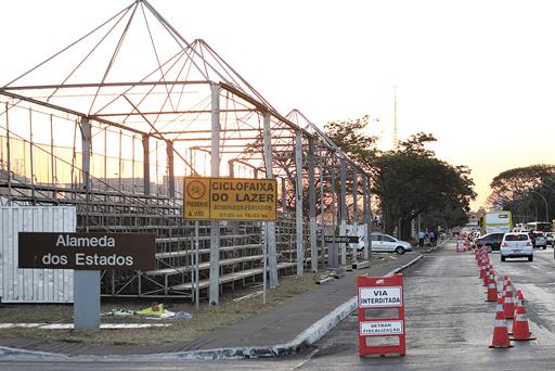 7 de setembro ― preparação Crédito: Correio Braziliense