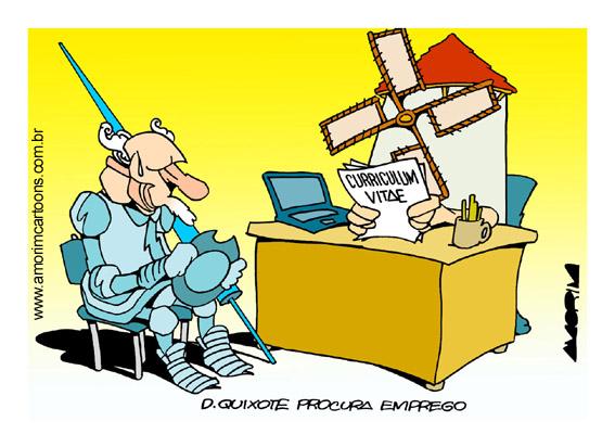 Dom Quixote procura moinho by Amorim