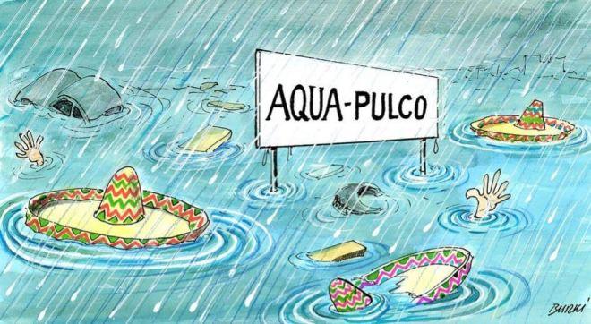 As enchentes de Acapulco, 2013 by Burki, desenhista suíço