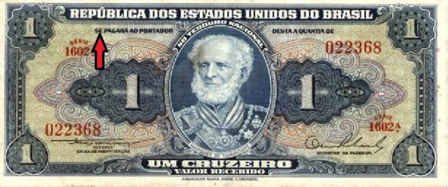 Cédula antiga ― Cruzeiro (1942 a 1967)