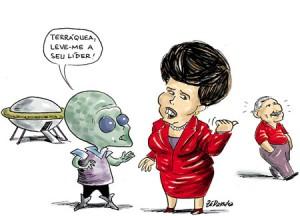 Dilma e o ET by Zé Dassilva