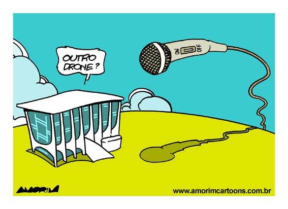 Espionagem Crédito: Amorim Cartoons
