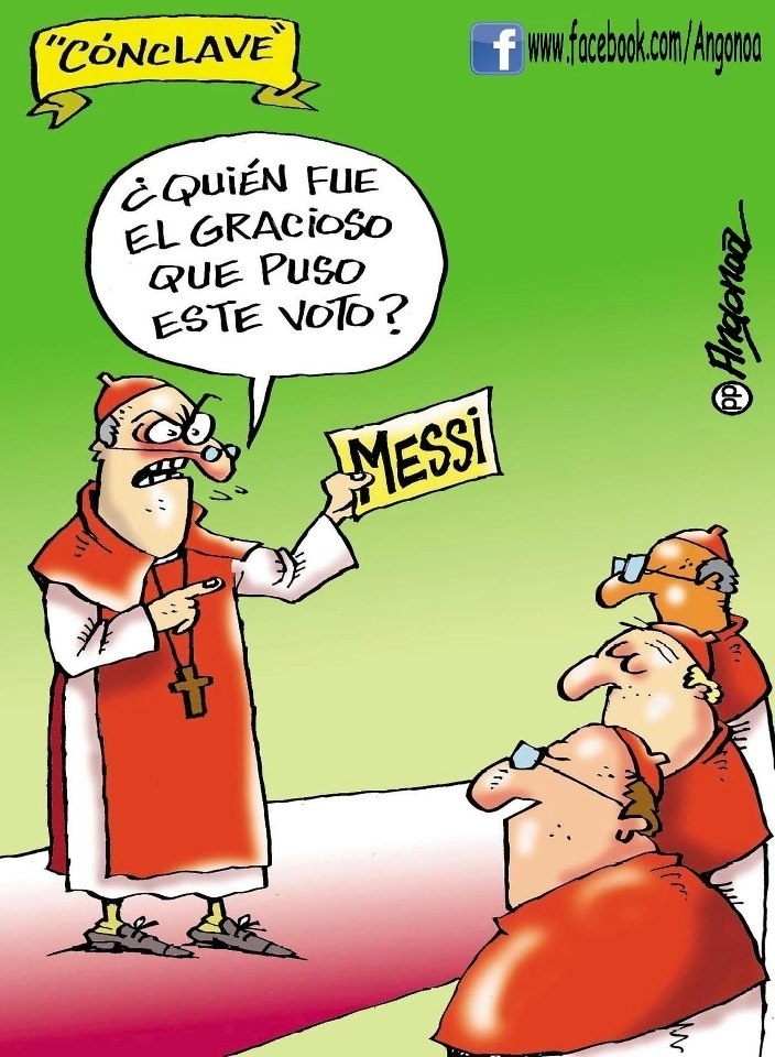 El cónclave by Pepe Angonoa, cartunista de Córdoba, Argentina
