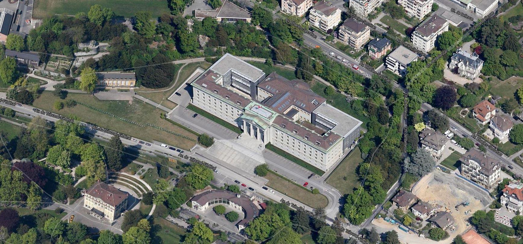 Tribunal Fédéral suíço, Lausanne imagem google
