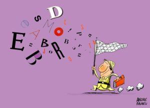 Caçador de letras by André Abreu, desenhista paraense