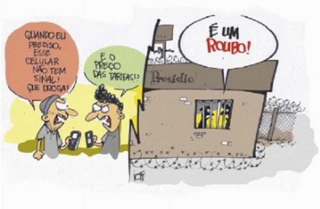 A tarifa telefônica by Iotti, desenhista gaúcho