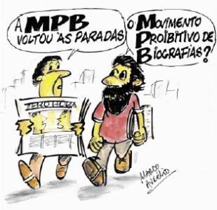 MPB ― novos rumos by Marco Aurélio, desenhista gaúcho