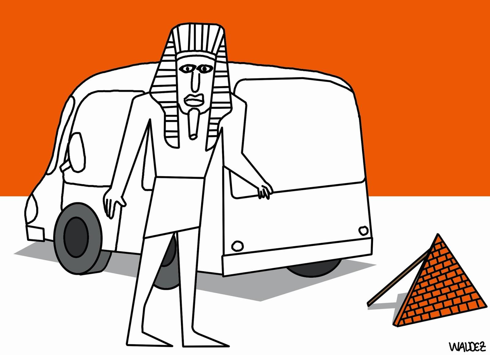 Inauguração de posto de saúde no tempo dos faraós by Waldez Duarte, desenhista paraense