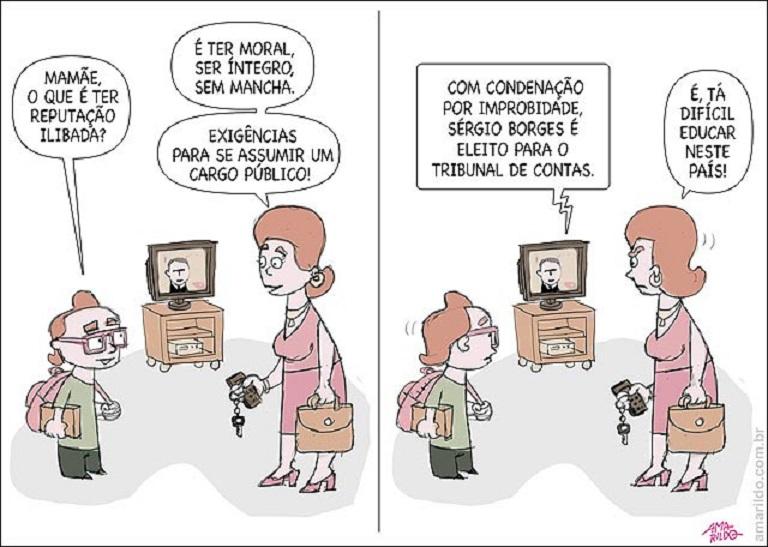 Sinal dos tempos by Amarildo Lima, desenhista capixaba