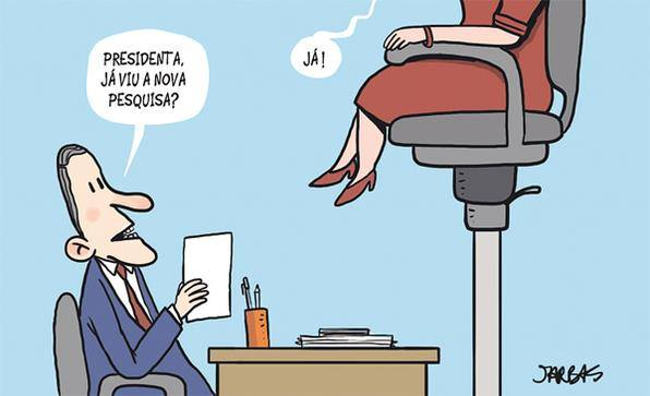 Os 38% de dona Dilma vistos por Jarbas Domingos, desenhista pernambucano