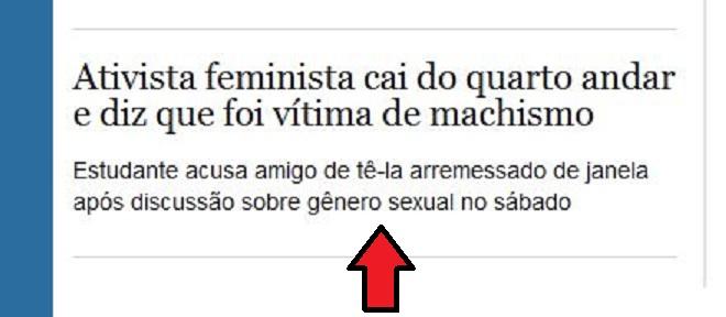 Chamada de primeira página Estadão online, 4 dez° 2013