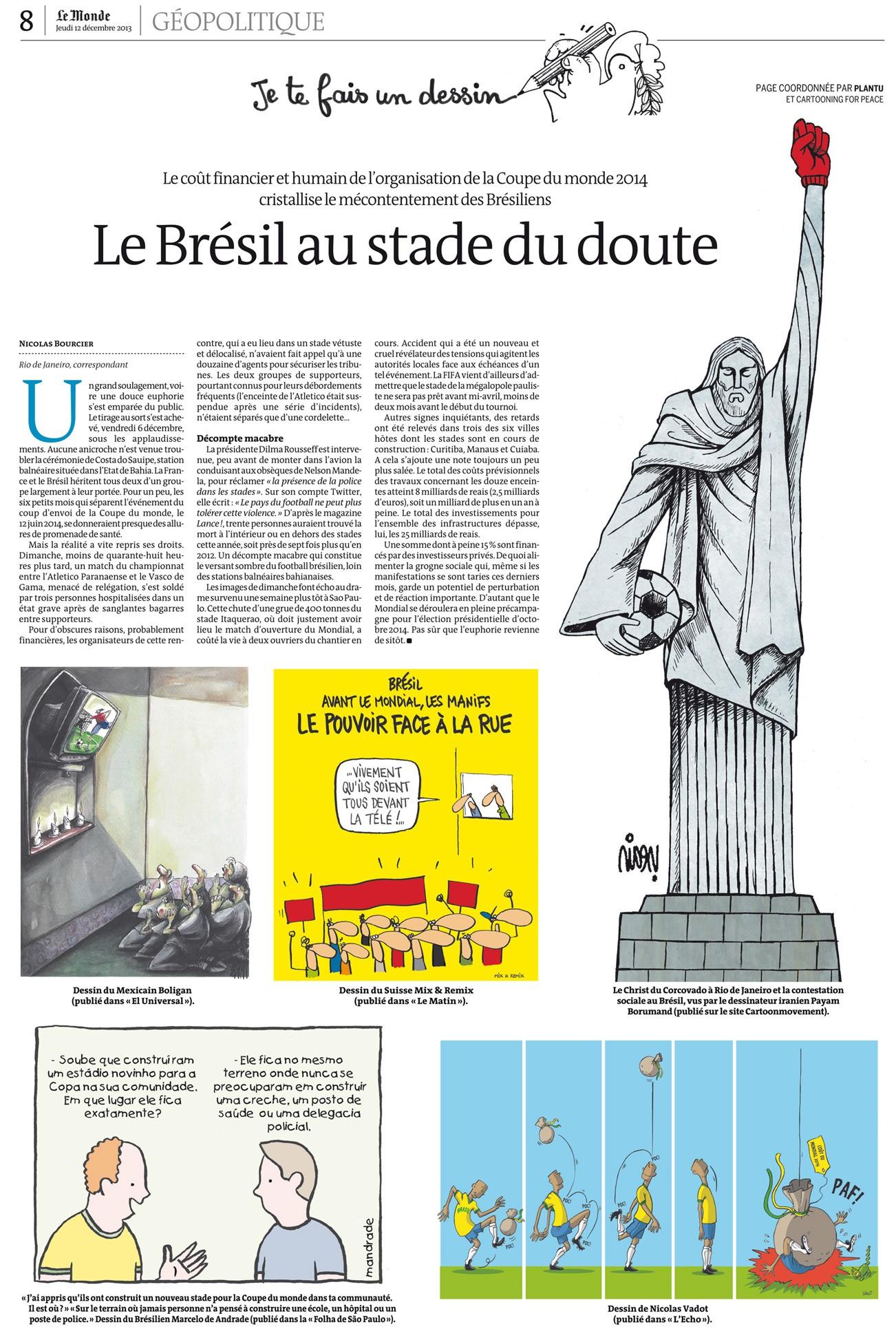 Le Monde ― 12 dez° 2013 página inteira