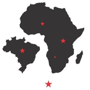 Brasil e África Crédito: Cebráfrica, UFRGS