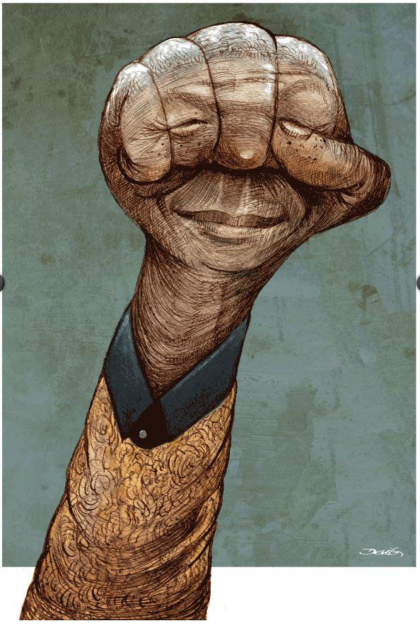 Nelson Mandela by Darío Castillejos, desenhista mexicano