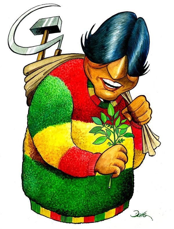 Evo Morales by Darío Castillejos, desenhista mexicano