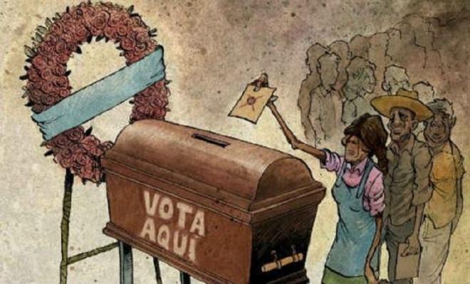 Voto de cabresto by Darío Castillejos, desenhista mexicano