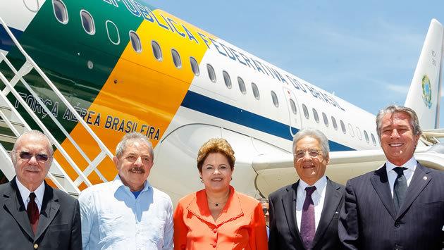 Cinco presidentes Foto: Roberto Stuckert F°