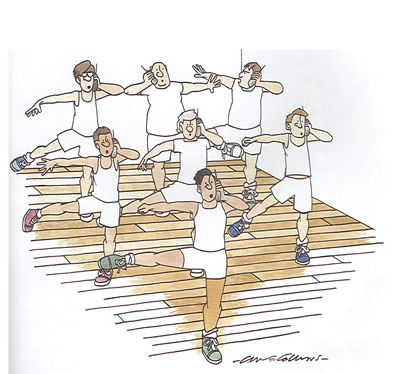 Fitness by Clive Collins, desenhista britânico