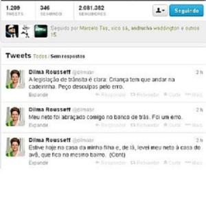 Dilma e os tuítes em seu nome
