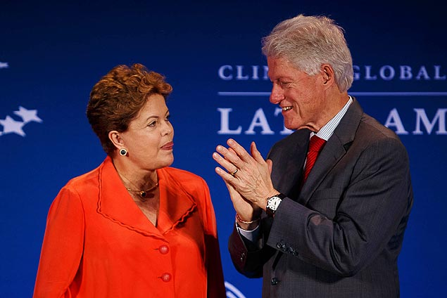 Dilma Rousseff & Bill Clinton Crédito: Daniel Marenco, Folhapress