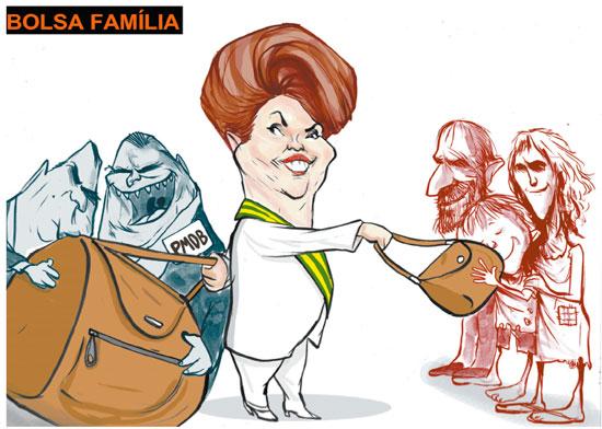As bolsas da presidente vistas por Lezio Júnior, desenhista paulista