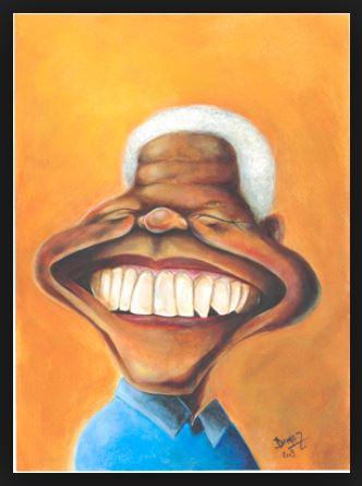 Nelson Mandela by Dimas Restivo, desenhista paulista