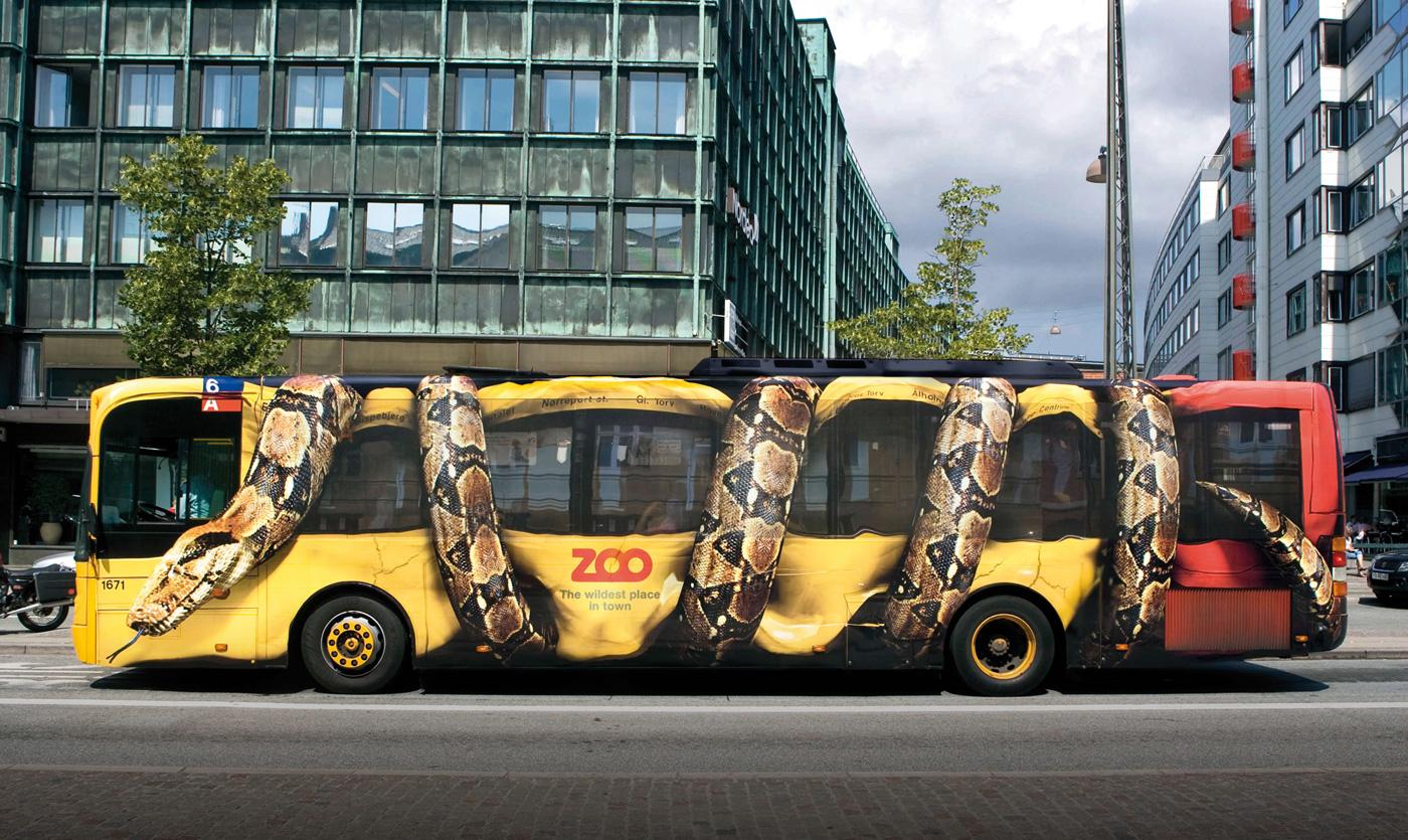 Ônibus urbano como suporte publicitário