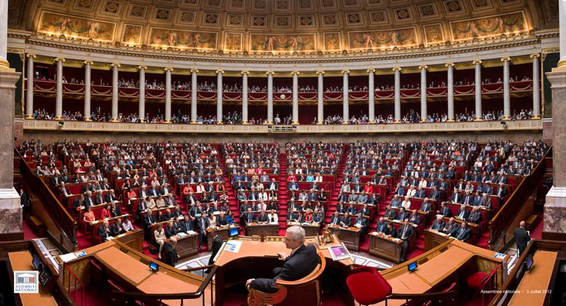 Assembleia nacional francesa — o «hemicycle»