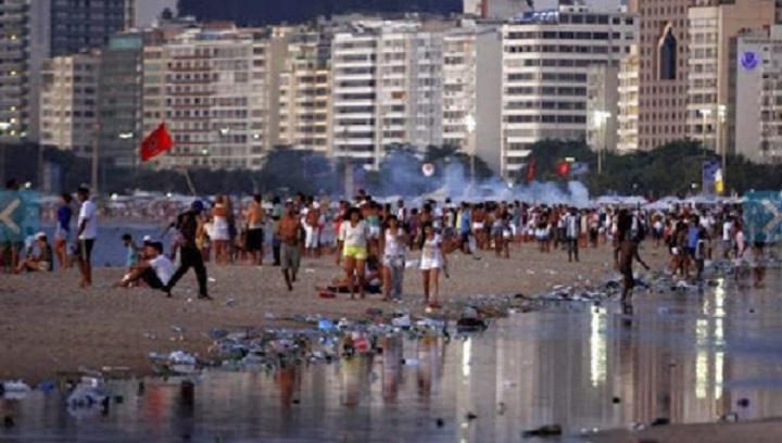 Praia de Copacabana, 1° jan 2014