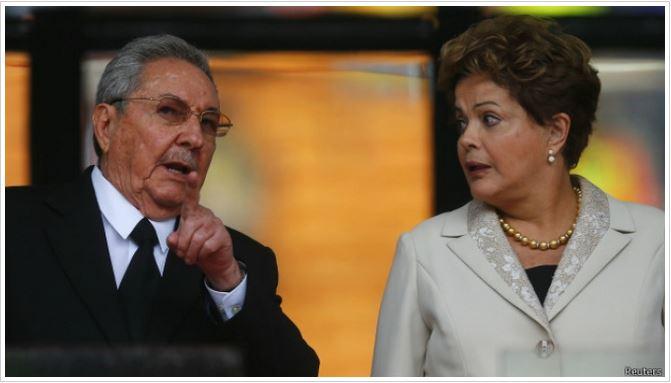Dilma Rousseff & Raúl Castro Crédito: Reuters
