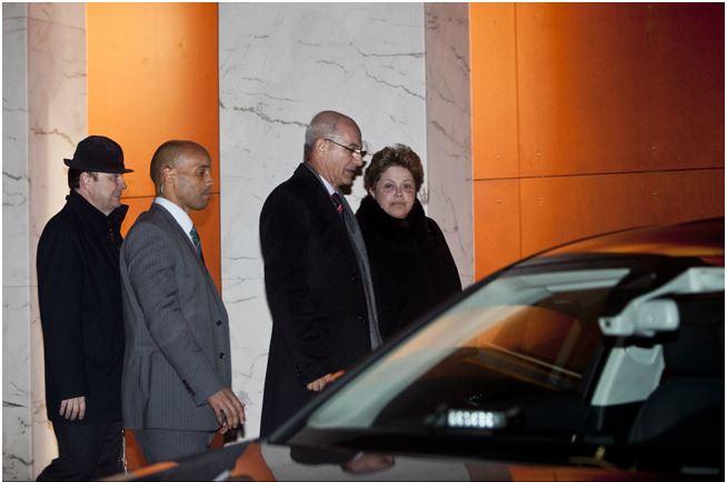 Dilma à saída do restaurante estrelado Crédito: Nuno Fox, Expresso
