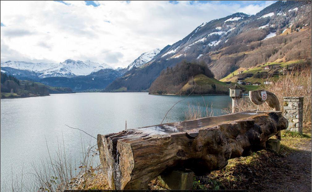 Lago de Lungern, Cantão Obwald 23 janeiro 2014 Crédito: Sigi Tischler, Keystone