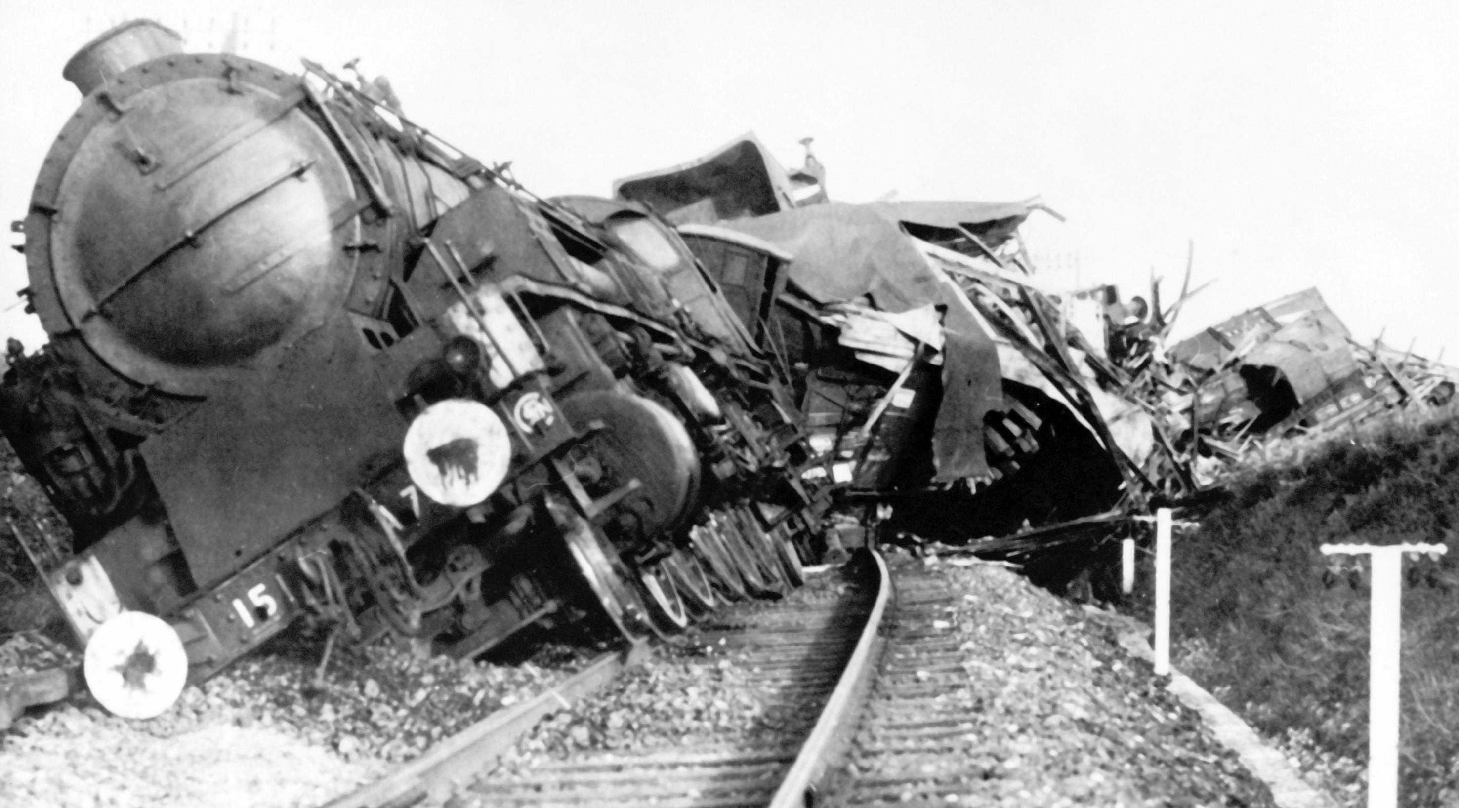 França: trem sabotado na Segunda Guerra