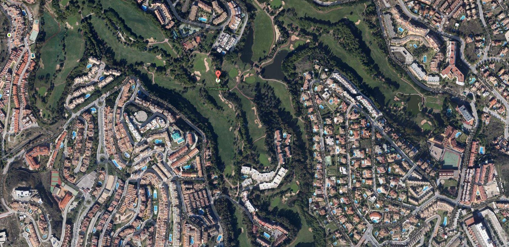 Campo de golfe de Torrequebrada, Benalmádena Málaga, Costa del Sol, Espanha Imagem google Clique para ler reportagem