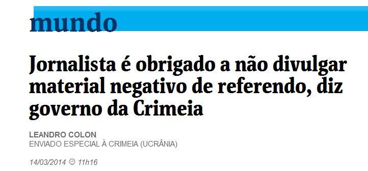 Folha de São Paulo, 14 mar 2014