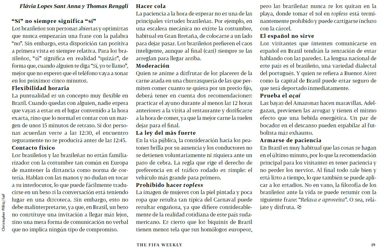 «Manual» da Fifa ― texto