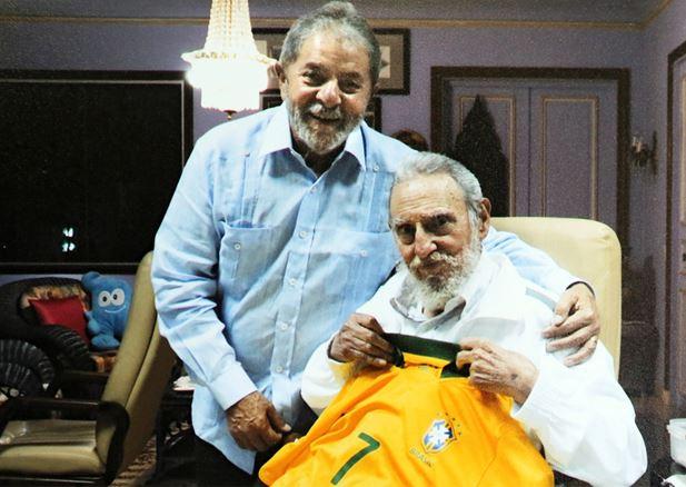 Lula & Fidel Castro Visita de cortesia Foto divulgada em 28 fev° 2014