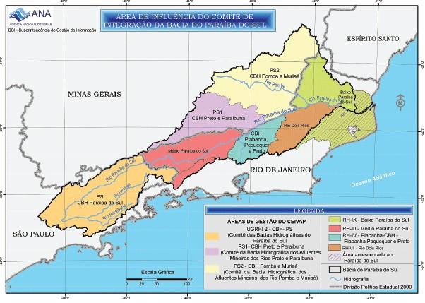 Bacia do Paraíba do Sul Fonte: Agência Nacional de Águas