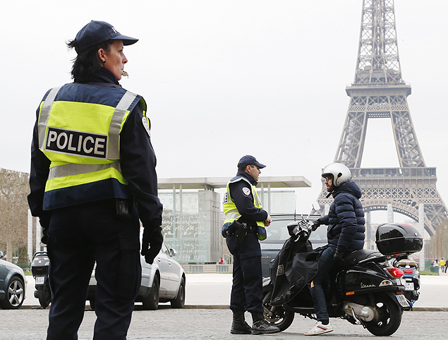 Paris: rodízio urbano Crédito: François Guillot, AFP