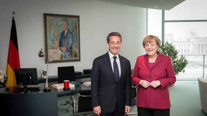 Sarkozy & Merkel Visita de cortesia ― 28 fev° 2014 Crédito: Handout, Reuters