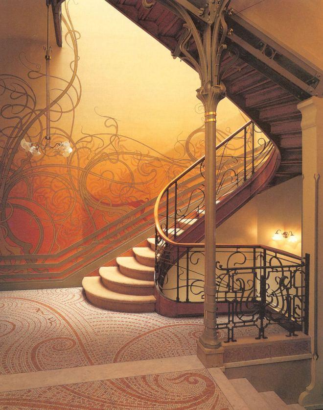 Art Nouveau arquitetura, pintura e decoração