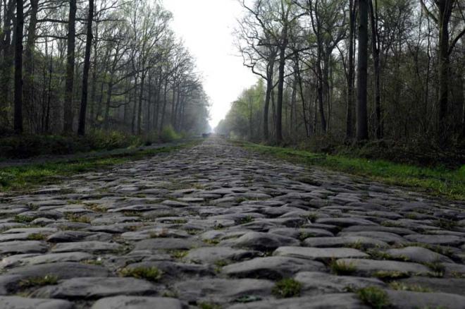 Trecho da corrida Paris-Roubaix