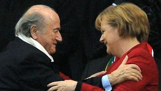 Sepp Blatter & Angela Merkel